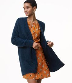 This fuzzy cardigan is as cool as it is cozy