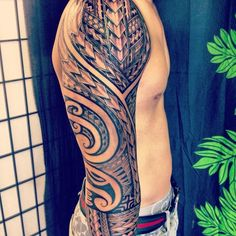 The Best Full Sleeve Polynesian Tattoo for Men | Cool Tattoo Designs
