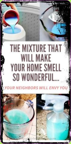 This Mixture That Will Make Your Home Smell So Wonderful� Your Neighbors Will Envy You Homemade Air Freshener, Natural Air Freshener, Car Cleaning, Cleaning Hacks, Cleaning Products, Cleaning Solutions, Cleaning Supplies, Herbal Remedies, Home Remedies
