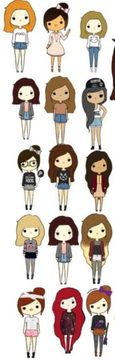 tumblr chibi girls-google search