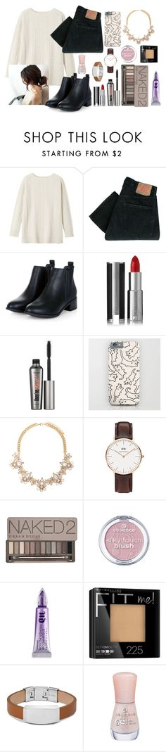 """Ootd#35"" by luludedid on Polyvore featuring Toast, Levi's, Givenchy, Benefit, Forever 21, Daniel Wellington, Urban Decay, FOSSIL, Essence and women's clothing"