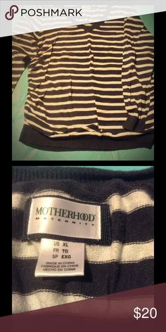 Maternity black and white striped sweater Maternity sweater with enough room for your growing belly. Motherhood Maternity Sweaters Crew & Scoop Necks