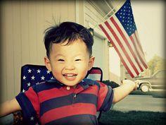 Cute patriotic kiddo! #redwhitebgosh