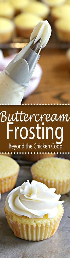 A perfect buttercream frosting for cakes and cupcakes.