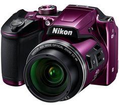 My beautiful new camera. Nikon COOLPIX Optical Zoom Digital Camera w/ Built-in Wi-Fi - Purple Best Dslr, Best Camera, Dslr Photography Tips, Photography Equipment, Camera Nikon, Camera Gear, Camera Hacks, Bridge Camera, Full Hd 1080p