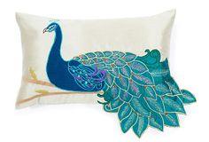 Fancy Rectangle Peacock Pillow, Multi on OneKingsLane.com