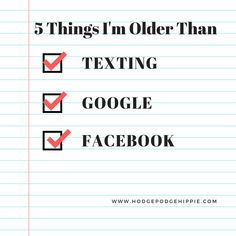 Do you know the items that you are older than? Check it out, the products may surprise you! So many things were invented after I was born!