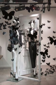 The Style Examiner: Lanvin Store Windows on Rue du Faubourg Saint-Honoré, Paris