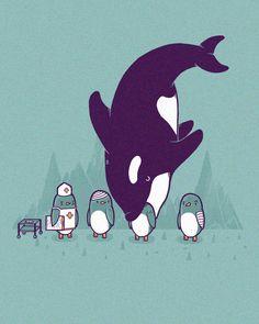 """Randy Otter, """"Nurse penguin has a long day"""""""