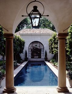 pool, loggia & guest house by mcalpine tankersley