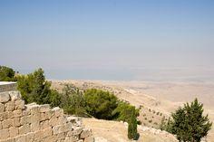 El Mar Muerto desde el Monte Nebo, Jordania (Jebel Neba - Pisga)