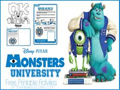 Monsters University Printable Activity Pages