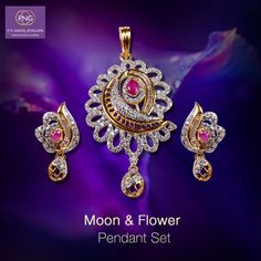 Bring her some flowers, bring her the moon! Visit your nearest PNG store and surprise your beloved. ‪#‎pngadgil‬ ‪#‎pendantset‬