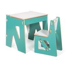 Sprout Kids Writing Desk   Aqua / White   KDC001 AQU_WHT