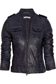 Leather Jacket - worn, black, comfortable