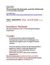 Merkmale Vorteile Nutzen Sprachensoftware deutsch-englisch Mechatronik Uebersetzer Fachbegriffe