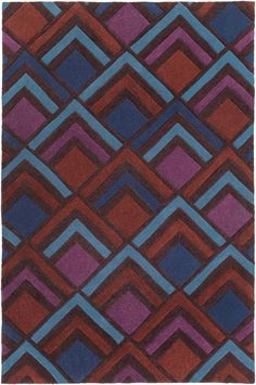 Surya COS9276 Cosmopolitan Purple, Blue Rectangle Area Rug