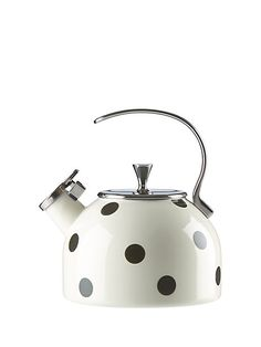 this polka-dotted kettle is so good-looking, you'll want to leave it atop your stove for decoration even when you're not boiling water.