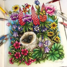 Inspirational Coloring Pages by Chris Cheng (@colorvscolour) #twilightgarden #adultcoloring #coloringbook