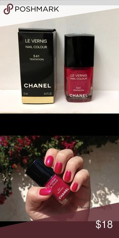 Chanel Tentation Nail Polish Used one time. Limited Edition color. Thanks to The Beauty Look Book for 2nd pic. CHANEL Makeup