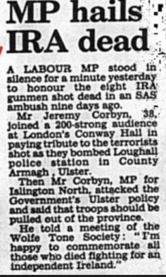 Was Jeremy Corbyn a traitor to the British People? Conway Hall, Northern Ireland Troubles, Tommy Robinson, Enemy Of The State, Uk History, British People, Labour Party, Jeremy Corbyn, Conservative Politics