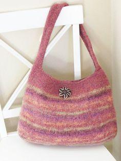 Knitting Pattern - Felted Purse Knit Bag by DeborahOLearyPatterns