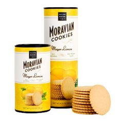 Meyer Lemon Moravian Cookies, for those Non Chocolate people!