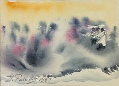 #316, aquarelle et encre, 1987, 4,75'' x 3,5'', 25$ Paradis, Abstract, Artwork, Painting, Watercolor And Ink, Watercolor Paintings, Summary, Work Of Art, Painting Art
