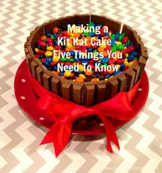 The Kit Kat Cake – 5 Things You Need To Know : I have wanted to make this cake for like, forever. It looked so delicious but so difficult, and I felt cake-tastically challenged. After adding the task to my 101 things to do in 1001 days list, I . Candy Cakes, Cupcake Cakes, Oreo Torte, Cake Kit, Kit Kat Cakes, Felt Cake, Savoury Cake, Cute Cakes, Celebration Cakes
