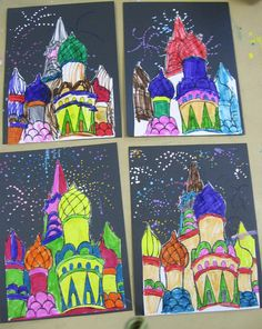 St. Basil's Cathedral Russia elementary art project