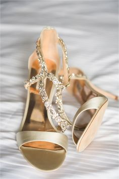 Gold Wedding Shoes | E Schmidt Photography | Metro Detroit Wedding Photographer | The Eastern Detroit | Blush, Neutral and Navy wedding