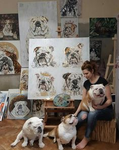 The major breeds of bulldogs are English bulldog, American bulldog, and French bulldog. The bulldog has a broad shoulder which matches with the head. Bulldog Breeds, English Bulldog Puppies, British Bulldog, Pug, Animals And Pets, Cute Animals, Bullen, Puppies And Kitties, Doggies
