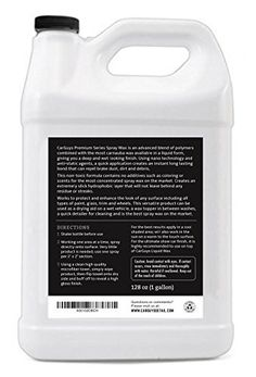Polymer Detail Spray Wax – Long Lasting Hybrid Polymer High Gloss Spray Sealant – Detailing Spray for Cleaning – Deep and Wet New Car Wax Shine – 1 Gallon Refill – Quick Detailer by CarGuys