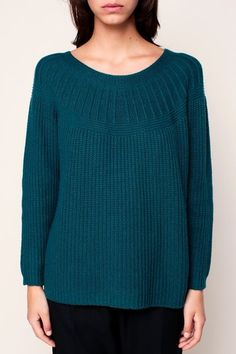 Pull ample en mailles emeraude Griffin 3