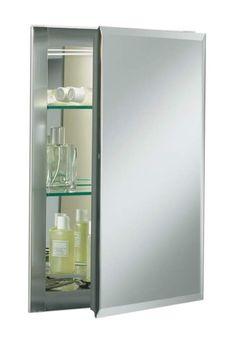 "View the Kohler K-CB-CLR1620FS 16"" x 20"" Single Door Reversible Hinge Frameless Mirrored Medicine Cabinet at FaucetDirect.com."