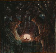 File:Mikalojus Konstantinas Ciurlionis - FAIRY TALE (FAIRY TALE OF KINGS) - 1909.jpg