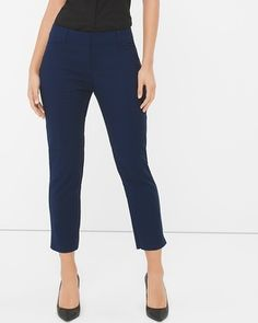 White House | Black Market Curvy Perfect Form Straight Crop Pants