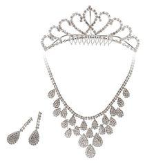 BMC 3pc Womens Elegant Rhinestone Fashion Bridal Wedding Necklace, Earring, Tiara Prom Pageant Jewelry Set, Countess Collection - STYLE 1 BMC http://www.amazon.co.uk/dp/B00D4G54TE/ref=cm_sw_r_pi_dp_oBk5tb0CDK42V