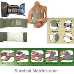 One of the best types to carry in your BOB or FAK. Tactical Trauma Dressing, Israeli Bandage, 4 Inch - Pressure Dressing