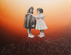 "Saatchi Online Artist Jose  Ignacio Romussi; Assemblage / Collage, ""girls"" #art"