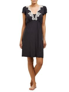 Maternity nursing nightdress in charcoal