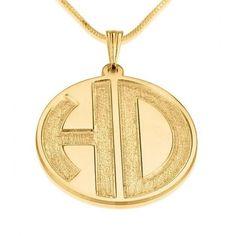 24k Gold Plated Sparkling 2 Letters Monogram Necklace