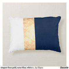 Navy And White Living Room, Navy Blue Rooms, Blue And Gold Bedroom, Navy Blue Decor, Cream Living Rooms, Navy Blue Pillows, Navy Blue Walls, Blue Living Room Decor, Gold Pillows