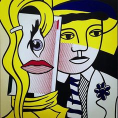 "Roy Lichtenstein ""Stepping Out"" 1978 Oil and Magna on canvas 220  178 cm…"