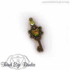 Keys – tribal steampunk bindi (var. 10) #tribal #bindi #tribalbindi #americantribalstyle #tribalstyle #tribalfusion #tribalbellydance #steampunk
