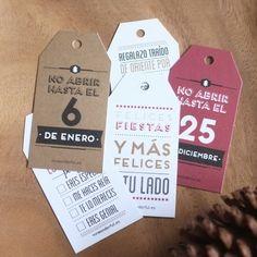 Etiquetas metalizadas para regalos navideños