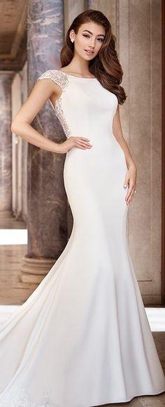 f9a541fa0e8b Mon Cheri Bridal · Unique Wedding Dresses Spring 2019 - Martin Thornburg  Sheath Wedding Gown, Wedding Gowns, Classic