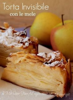 Here you can find a collection of Italian food to date to eat Italian Desserts, Apple Desserts, Apple Recipes, Italian Recipes, Sweet Recipes, Delicious Desserts, Cake Recipes, Italian Catering, Super Torte