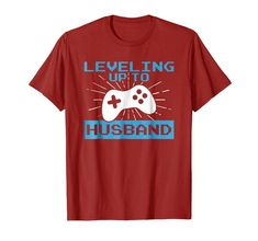 Funny Fiance Shirt Leveling Up To Husband Tee For Groom. Cool T-Shirts Casual Style For Men Over 50, Men Casual, Cool Tees, Cool T Shirts, Tee Shirts, Shirt Shop, Branded T Shirts, Vintage Men, Funny Tshirts