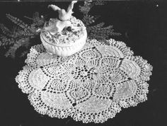Dove Doily--I like to make this one for wedding gifts.